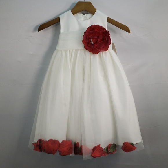 Us Angels Other - US ANGELS FLOWER GIRL PETAL DRESS IVORY STYLE 705